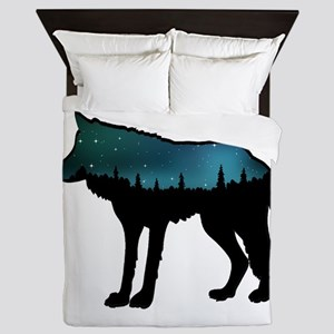 WOLF NIGHTLY Queen Duvet